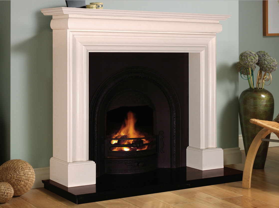 White Marble Fireplace : Wexford fireplace in white marble fireplaces ireland