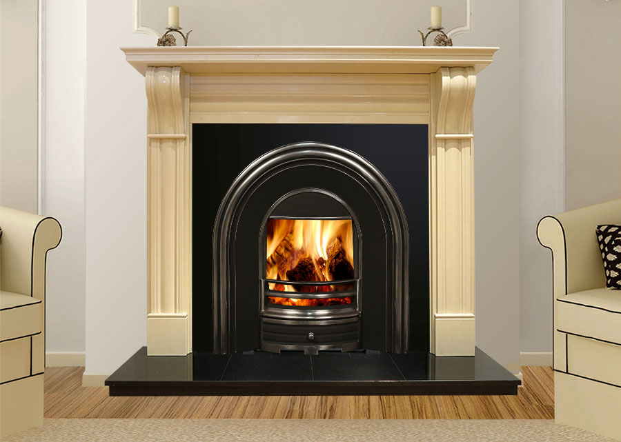 Dublin Corbel Cream - From only €650 | Marble Fireplaces Ireland