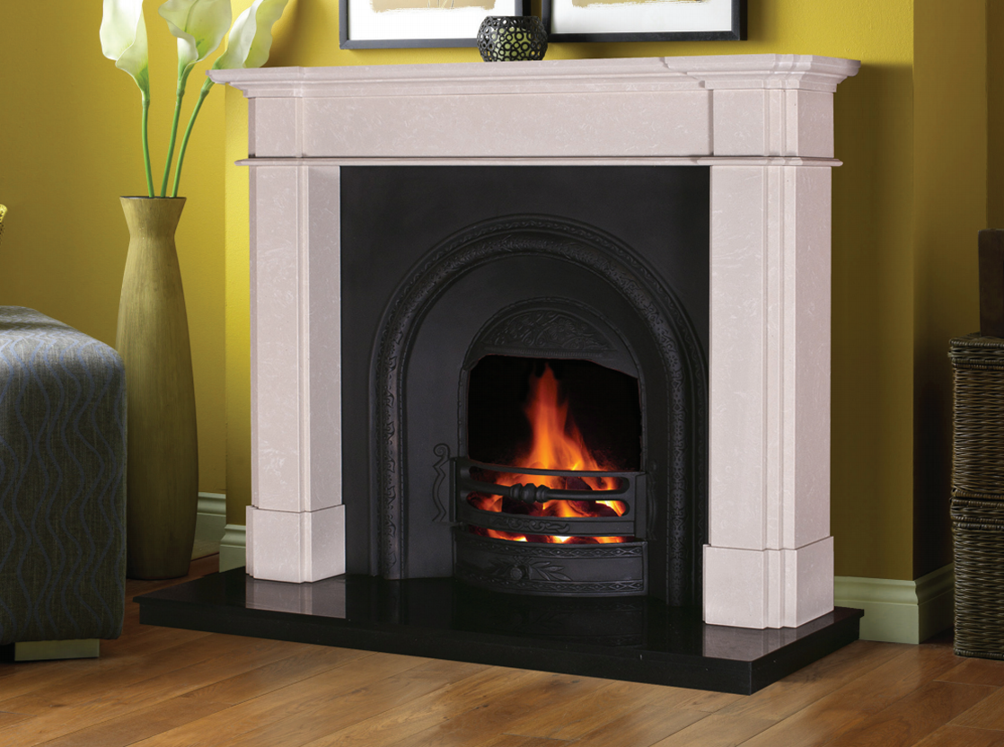 Fairmont Marble Fireplace In Ivory Pearl Marble Fireplaces Ireland