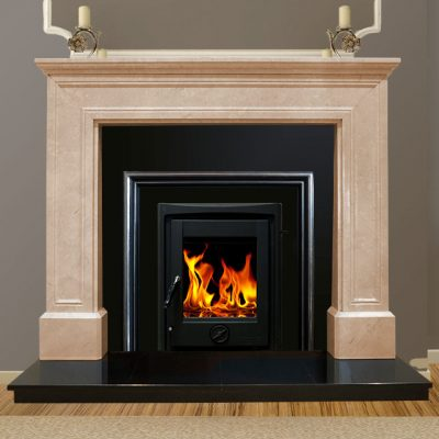 Doha Marble Fireplace Cream Marfil